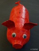 plastic bottle piggy bank by Sylvia
