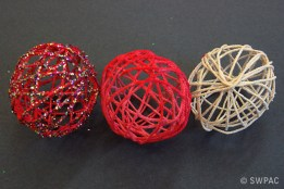 string Christmas decorations by Sylvia & Renate