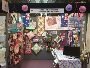 Sweet Pea at Festival of Quilts, Birmingham UK , July 2015
