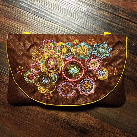 0604 Laura Carnley Hobo Clutch Purse Bag autumn