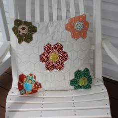1307 Roxanne Gumbert Hexagon cushion pillow