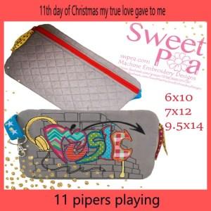 machine embroidery designs music bag