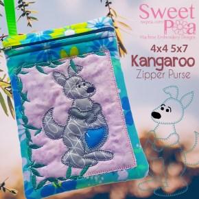 Kangaroo Zipper Purse 4x4 5x7 in the hoop
