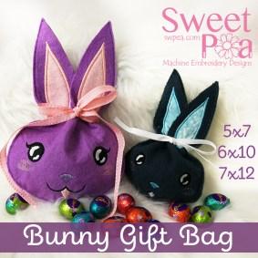Bunny Gift bag 5x7 6x10 7x12 in the hoop
