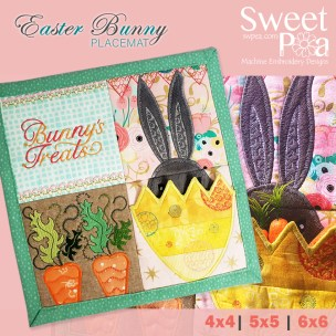 Easter Bunny Placemat March Sew Along 4x4 5x5 6x6 inthehoop (1)