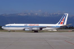 Boeing 707 - Air Memphis - SU-PBB - Genève GVA/LSGG Juin 2000 - Photo copyright: Gilles Brion
