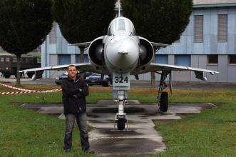 Remo Garone at LSMP Payerne Air Force base with the Mirage III