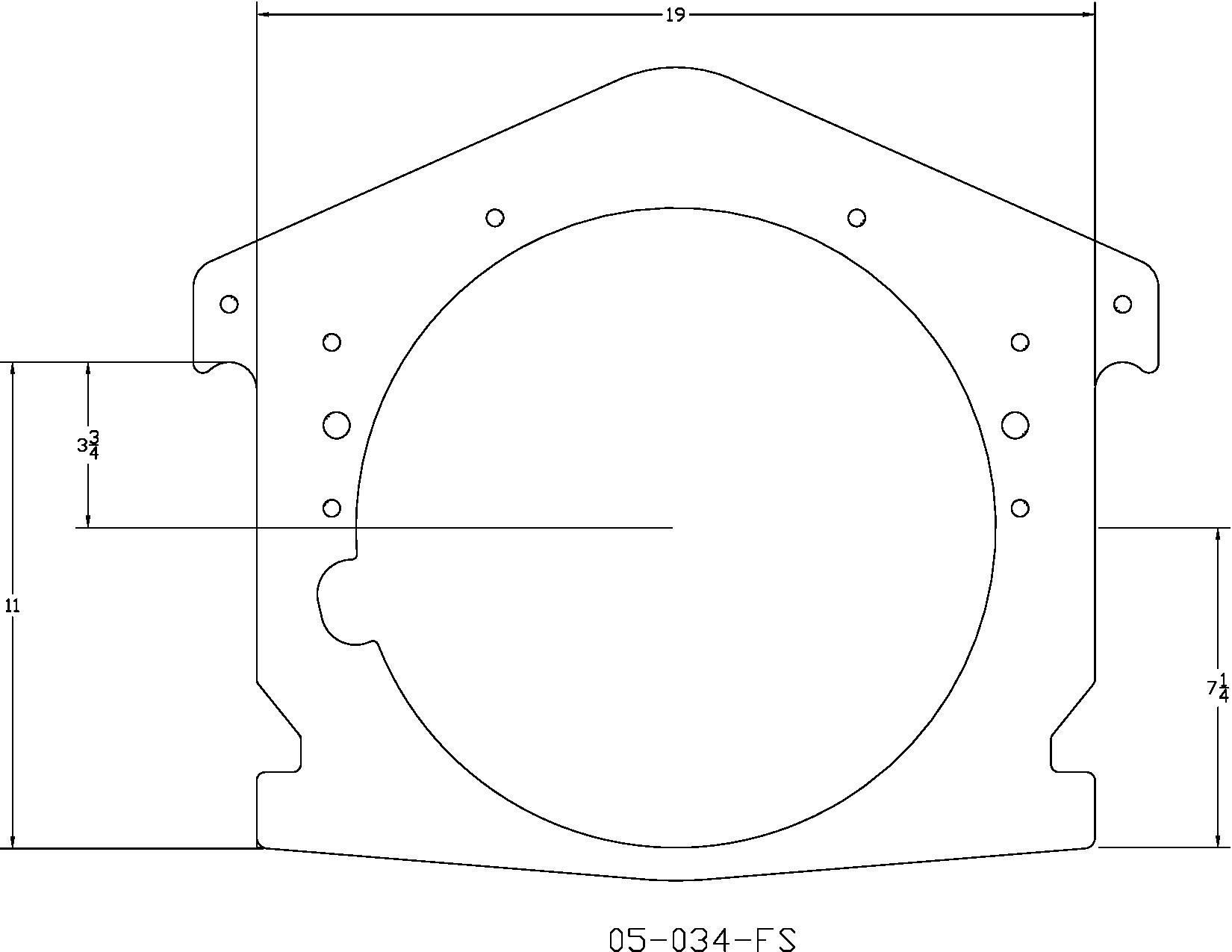 Full Mid Motor Plate 1 4 Aluminum