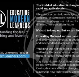 Educating Modern Learners Postcard (Back)