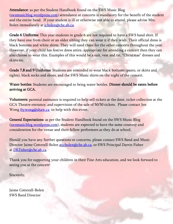 SWS Winter Concert Letter 2018 Page 2