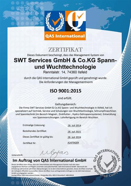 ISO-Zertifikat
