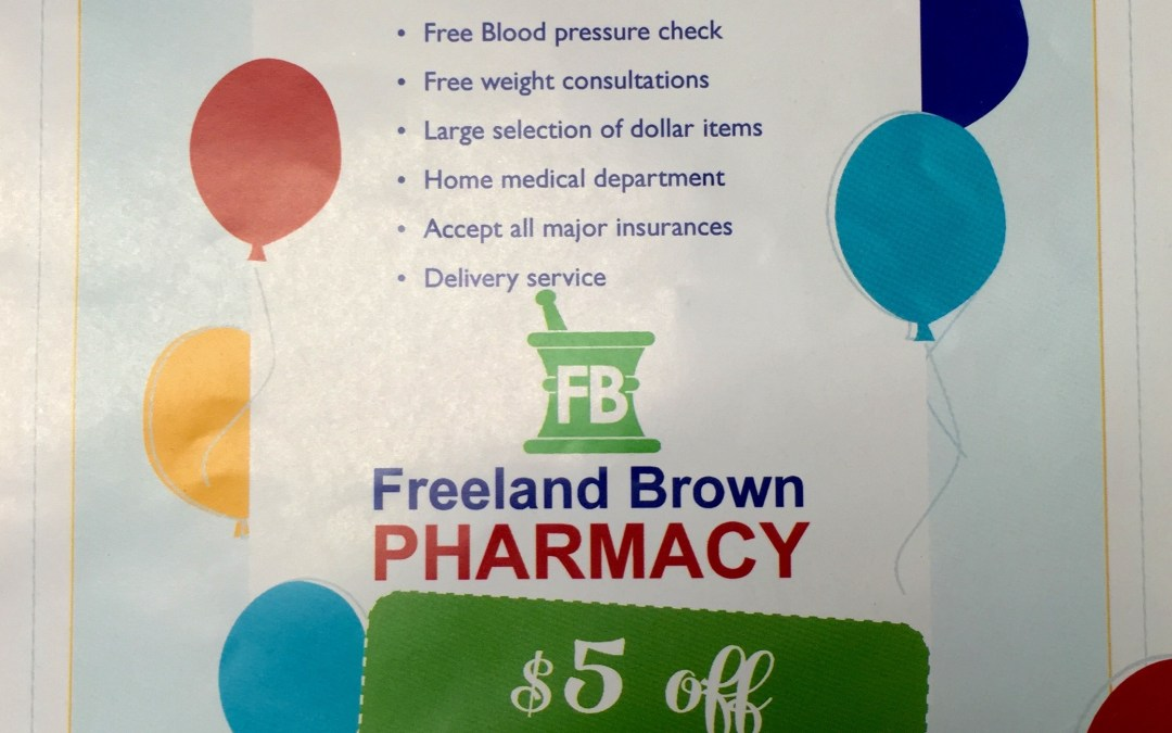 Freeland Brown Grand Opening November 6