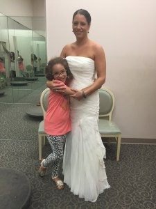 wedding dress try-on