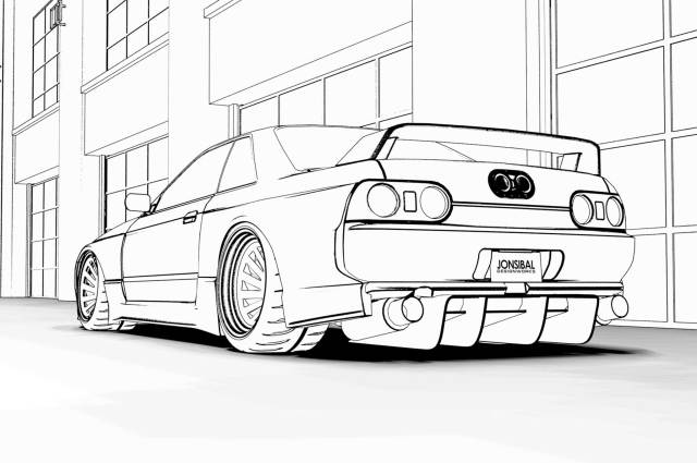 Free Car Colouring Pages: Downloads Of Ferrari F12, Toyota Supra