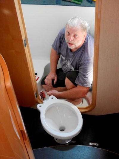 Neue Toilette