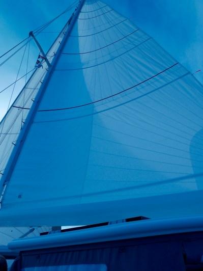 Als das Wetter besser wird, können wir auch segeln