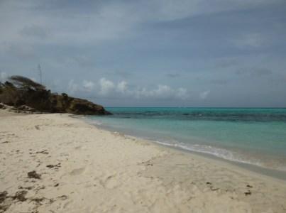 Strand in den Tobago Cays