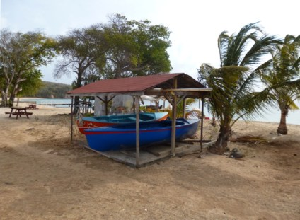 Bootshaus am Beach von Mayreau