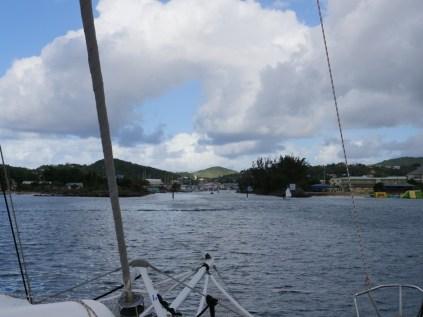 Einfahrt in die Rodney Bay Marina