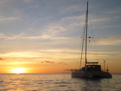 ME vor dem Sonnenuntergang in Deshaies
