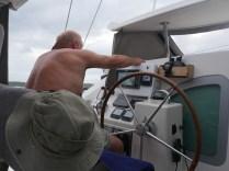 Der Captain beim Navigieren