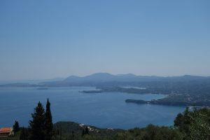 Blick auf Korfu Stadt