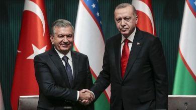 """صورة أردوغان يبحث مع نظيره الأوزبكي التعاون في مكافحة """"كورونا"""""""