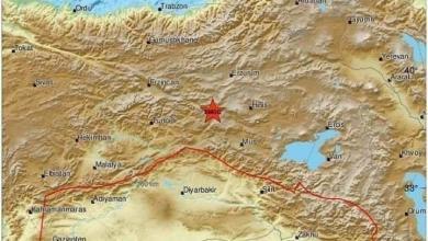 صورة هزة أرضية بقوة 4.2 ريختر على الحدود السورية التركية