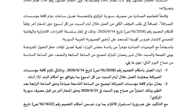 صورة سوريا.. قرار جديد من المصرف المركزي السوري بشأن عمل محلات الصرافة