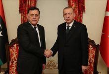 صورة أردوغان والسراج يبحثان مستجدات الأوضاع في ليبيا