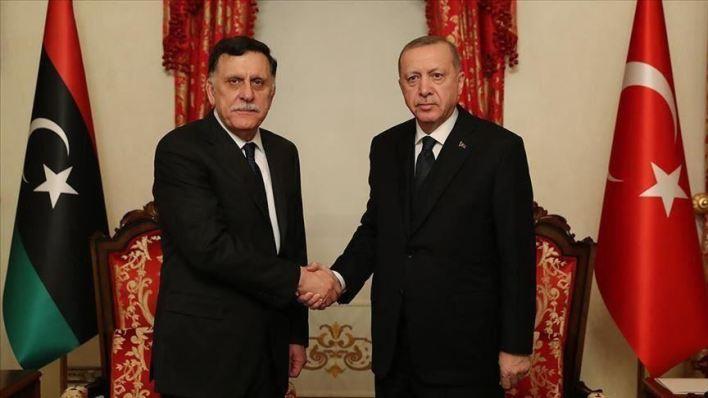 والسراج - أردوغان والسراج يبحثان مستجدات الأوضاع في ليبيا