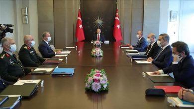 صورة الرئيس التركي:أردوغان يترأس اجتماعا أمنيا في إسطنبول