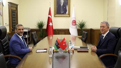 1600780068 8925790 854 481 4 2 - وزير الدفاع التركي يبحث مع المشري المستجدات في ليبيا