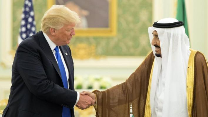 العاهل السعودي الملك سلمان والرئيس الأمريكي دونالد ترمب