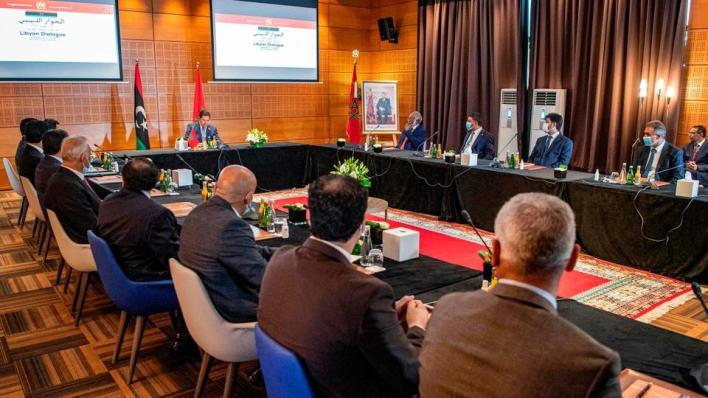 احتضن المغرب الجولة الأولى من الحوار الليبي ما بين 6 و10 من الشهر الجاري، وجمع المجلس الأعلى للدولة ومجلس نواب طبرق - صورة أرشيفية