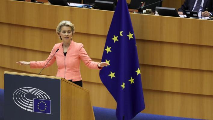 رئيسة المفوضية الأوروبية تدعو إلى تهدئة الوضع شرق المتوسط