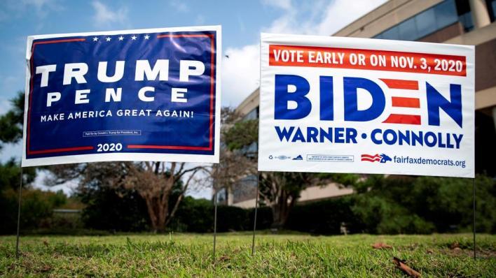 ترمب يخوض معركة انتخابية في 3 نوفمبر/تشرين الثاني المقبل، للفوز بولاية رئاسية ثانية ضد منافسه الديمقراطي جو بايدن