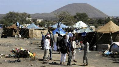 صورة نزوح 3 آلاف أسرة جراء القتال شمالي اليمن