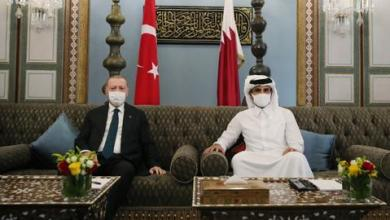 صورة أردوغان يزور قطر ويلتقي أمير البلاد