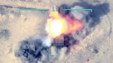 1602192663 9166415 854 481 4 2 - الجيش الأذربيجاني يدمر دبابات ومدرعات أرمينية