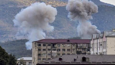 """1602319159 9182546 2970 1672 9 259 - بدء الهدنة الإنسانية بين أذربيجان وأرمينيا في """"قره باغ"""" المحتل"""