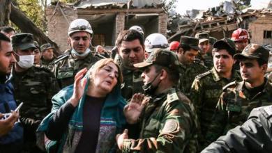 صورة حصيلة قتلى الاعتداءات الأرمينية تبلغ 61 وأذربيجان تواصل الهجوم المضاد