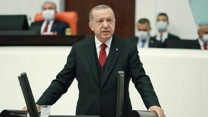 الرئيس التركي رجب طيب أردوغان يؤكد أن إبراز قضية فلسطين ومعاناة أهلها