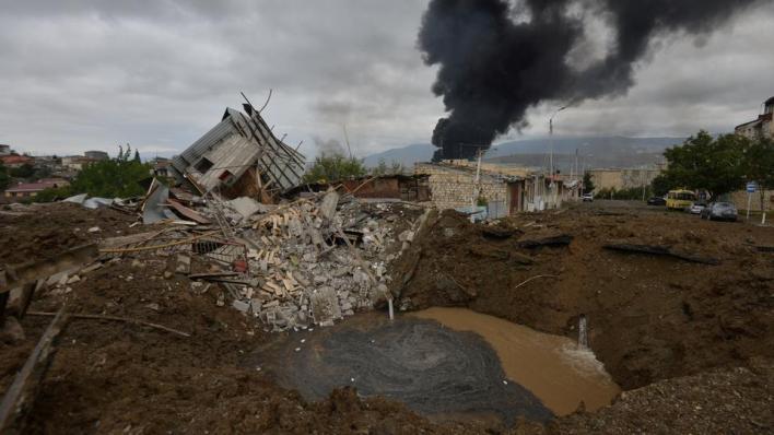 قوات أرمينية تواصل قصف المدن والمناطق الأذربيجانية