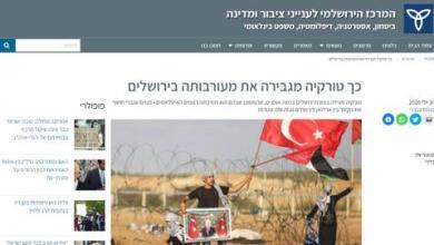صورة الدور التحريضي لمراكز البحوث الإسرائيلية ضد تركيا