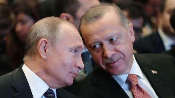 بوتين - اتصالات تركية مكثفة مع موسكو للعمل على وقف انهيار هدنة إدلب