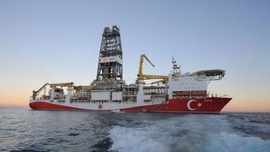 """صورة سفينة """"الفاتح"""" التركية تستعد لحفر أول بئر في """"توركالي-1"""" بالبحر الأسود"""
