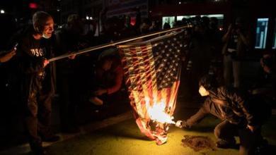 صورة احتجاجات في الولايات المتحدة بسبب عدم حسم نتائج الانتخابات