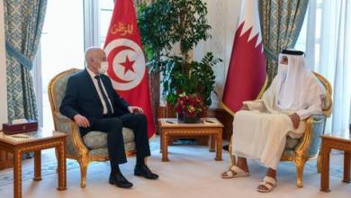 صورة قيس سعيد في الدوحة.. وأمير قطر يجدد وقوفه إلى جانب تونس