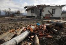 صورة استشهاد جندي أذربيجاني بانفجار لغم في قره باغ
